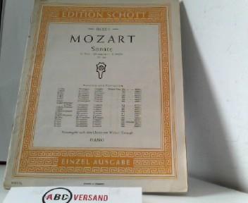 Mozart  Sonate B-Dur  (KV 570)  Piano