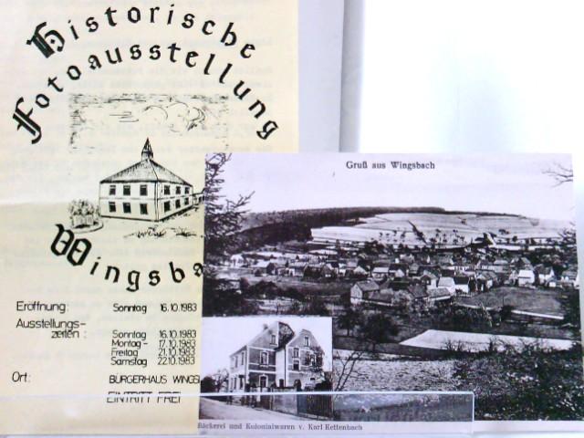 Historische Fotoausstellung Wingsbach mit 8 Karten - Reproduktionen von Ansichtskarten wohl aus vorliegender Fotoausstellung - Taunusstein Wingsbach