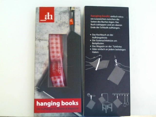 hanging books Buchaufhänger | Lieblingsbuch | rot-vichy: Aufhänger und Lesezeichen für Bücher und Magazine