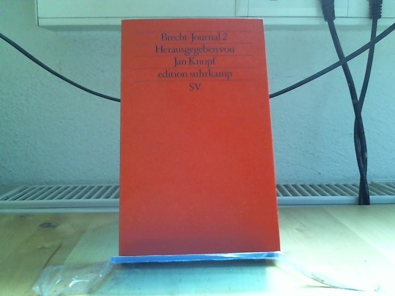 Brecht-Journal 2 (edition suhrkamp) Auflage: Erstausgabe