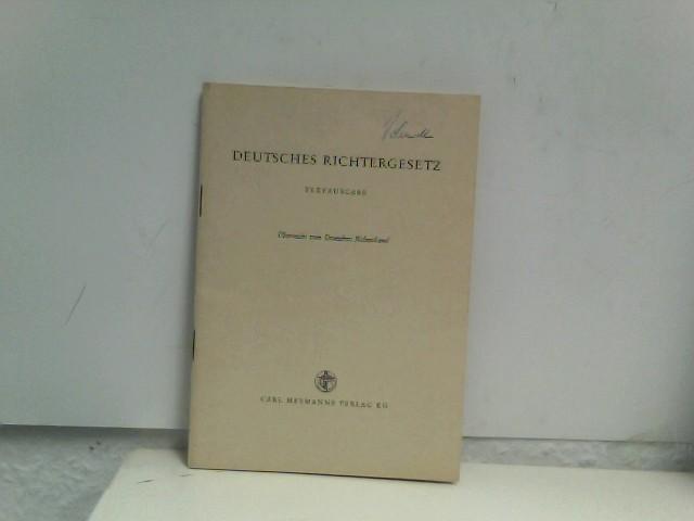 Deutsches Richtergesetz vom 8. September 1961. Textausgabe