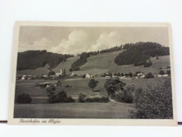 Foto-AK Ebratshofen im Allgäu, Zugstempel