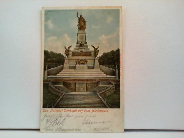 Foto-AK Das National Denkmal auf dem Niederwald; coloriert
