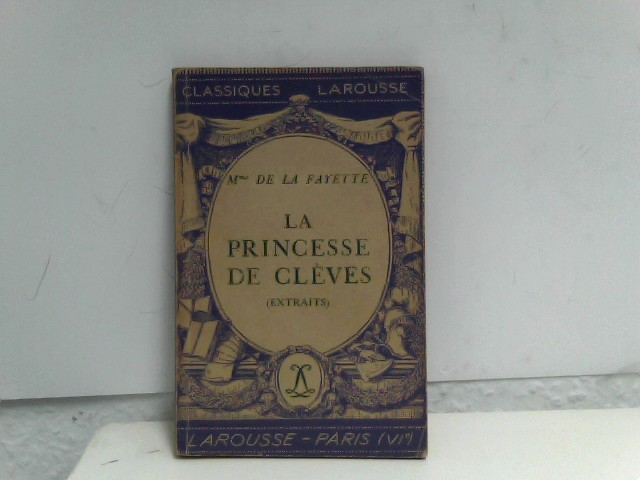 La Princesse De Cleves Auflage: French Language, Later Printing, Worn