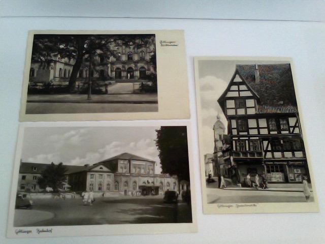 3 Foto-AK Göttingen; Konvolut; Auditorium, Bahnhof, Gmentinsecke