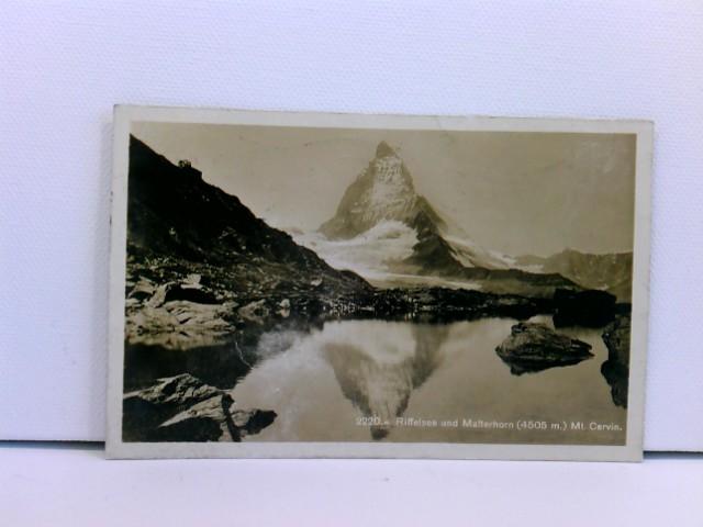 Foto-AK Riffelsee und Matterhorn (4505 m) Mt. Cervin