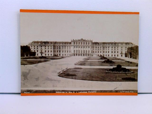 Kabinettfoto Wien, Schönbrunn, Lustschloss, Parkseite; A. F. Czihak