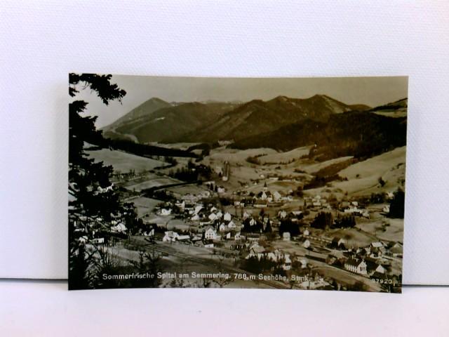 Foto-AK Sommerfrische Spital am Semmering, 788 m Seehöhe, Stmk.