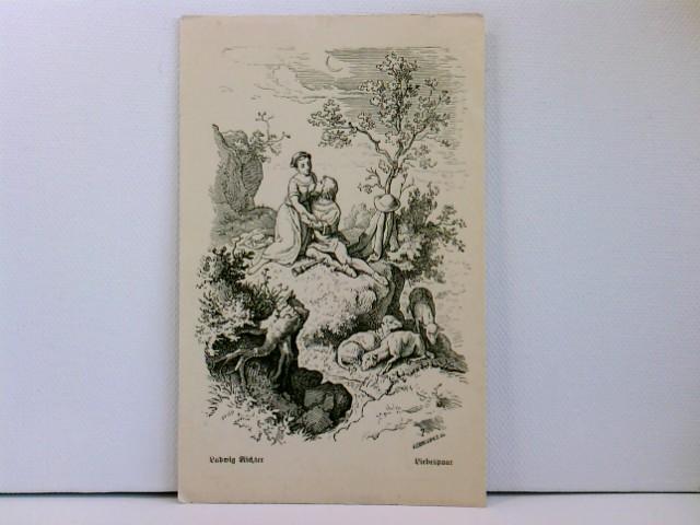 Künstler-AK Ludwig Richter; Liebespaar, Serie 6