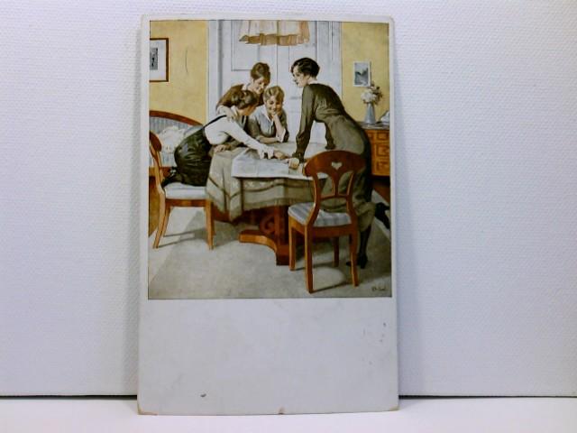 Künstler-AK Wennerberg-Kriegspostkarten, WK1; Nr. 6 Strategie