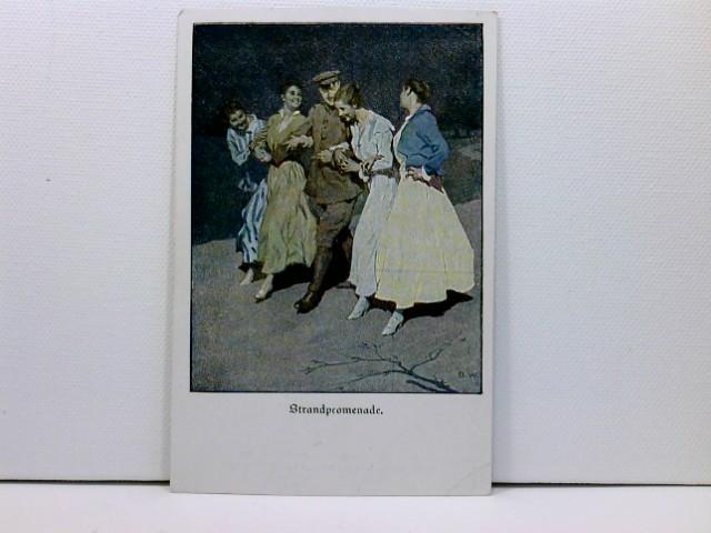 Künstler-AK Wennerberg-Kriegspostkarten, WK1; Lustige Blätter Nr. 16, Strandpromanade