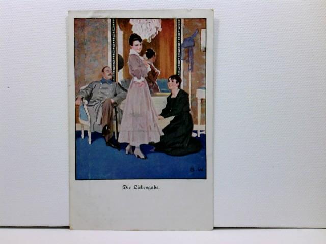 Künstler-AK Wennerberg-Kriegspostkarten, WK1; Lustige Blätter Nr. 10, Die Liebesgabe