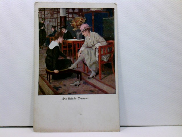 Künstler-AK Wennerberg-Kriegspostkarten, WK1; Lustige Blätter Nr. 14, Die kleinste Nummer