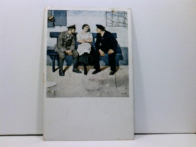 Künstler-AK Wennerberg-Kriegspostkarten, WK1; Nr. 16 Geplänkel