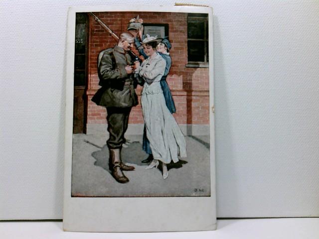 Künstler-AK Wennerberg-Kriegspostkarten, WK1; Nr. 8, Vor der Abfahrt