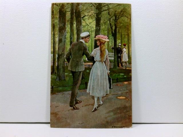 """Künstler-AK R. Borrmeister: """"Der Liebe Erwachen"""", ca. 1915"""