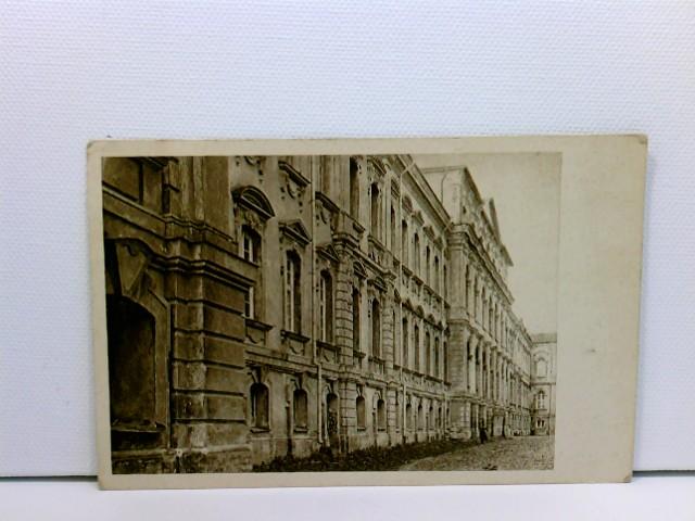 AK Mitau, Schloß, Rückseite; Kais. Deutsche Feldpost; Briefstempel Landsturm-Bataillon; Lettland