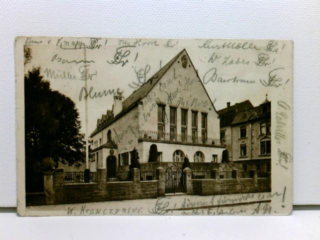 sehr seltene AK Corpshaus Suevia, Freiburg i. Br.; Verbindung, mit div. Unterschriften