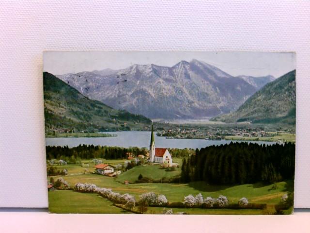 AK Bad Wiessee am Tegernsee mit Bodenschneid; coloriert