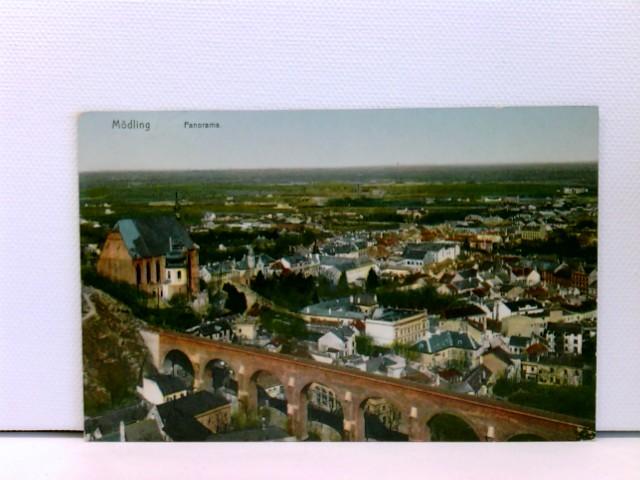 AK Mödling, Panorama; coloriert