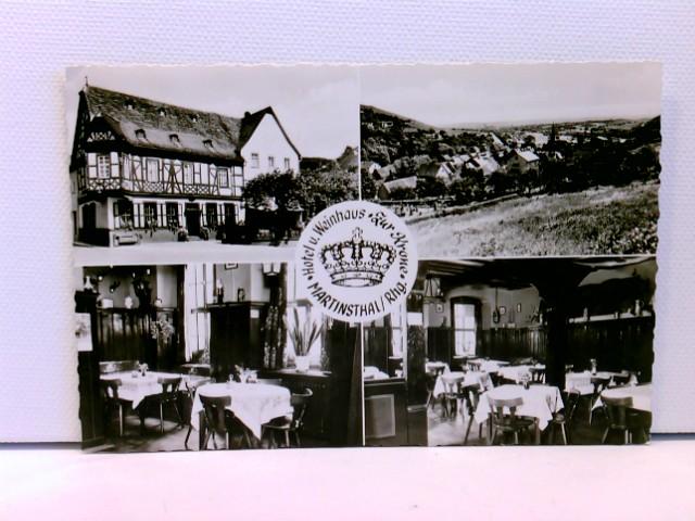 Mehrbild-AK Martinsthal/Rhg., Hotel und Weinhaus