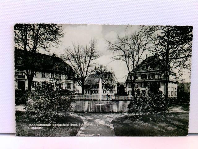 AK Höhenluftkurort Königsfeld (bad. Schwarzwald), Kirchplatz