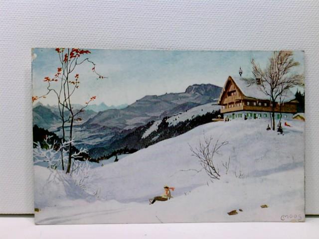 Künstler-AK Bad Tölz, Blomberghaus 1250 m; Stempel Blomberg-Haus