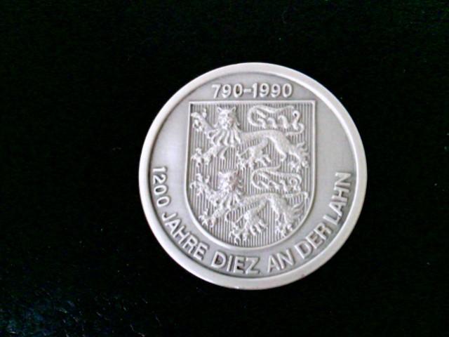 Medaille: 1200 Jahre Diez an der Lahn, 790 - 1990