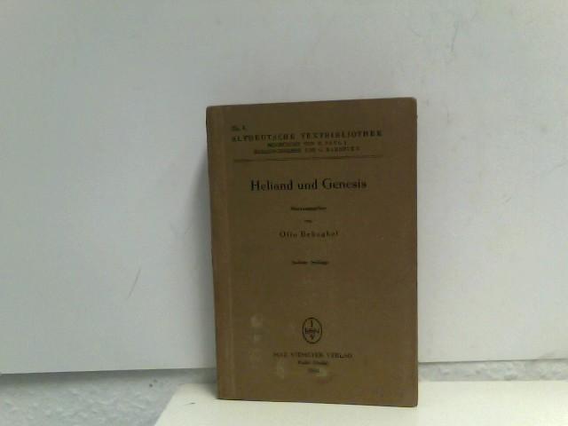 Hrsg Behaghel, Otto: Heliand und Genesis