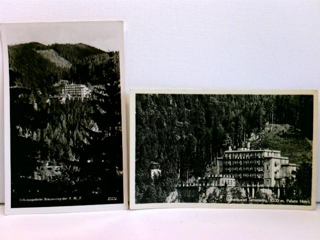 2 AK Höhenluftkurort Semmering; Palace Hotel / Erholungsheim Semmering der S.M.V.; Konvolut