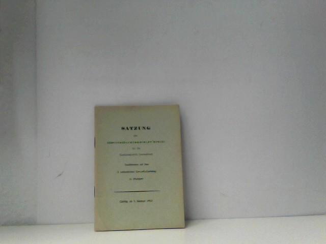 Satzung der Industriegewerkschaft Metall 1953