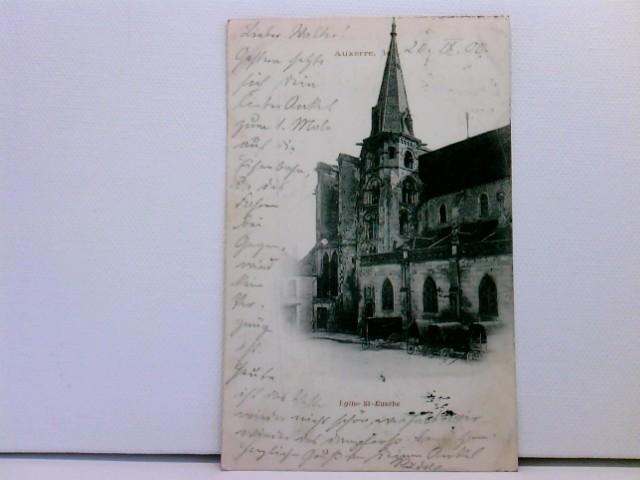 AK Auxerre - Eglise St. Eusébe; mit Planwagen