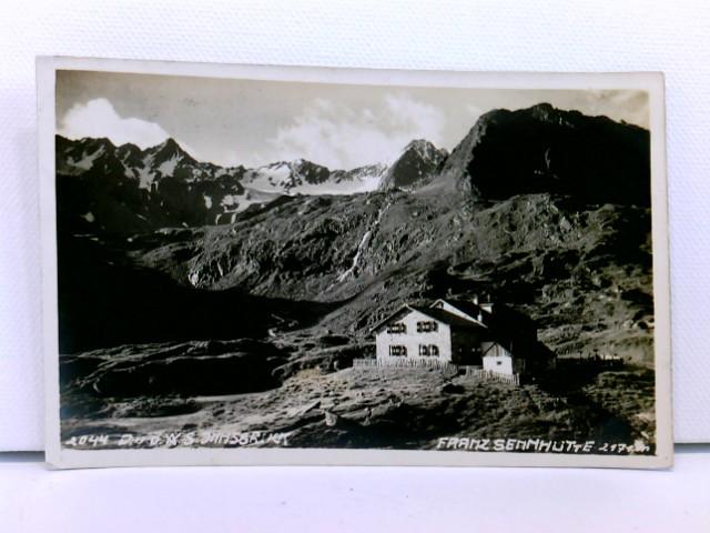 AK Franz Sennhütte 2171 m., Neustift, Stubaital; Hüttenstempel