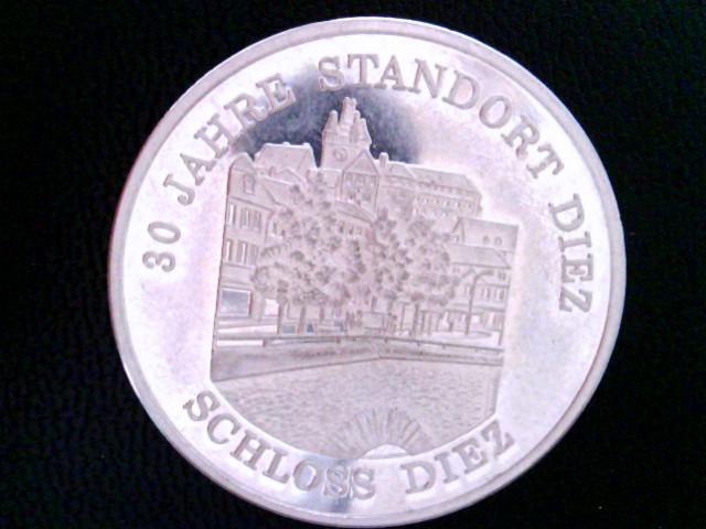 Medaille: 30 Jahre Standort Diez 1956 - 1986, Schloß Diez. 30 Jahre 5. Panzerdivision