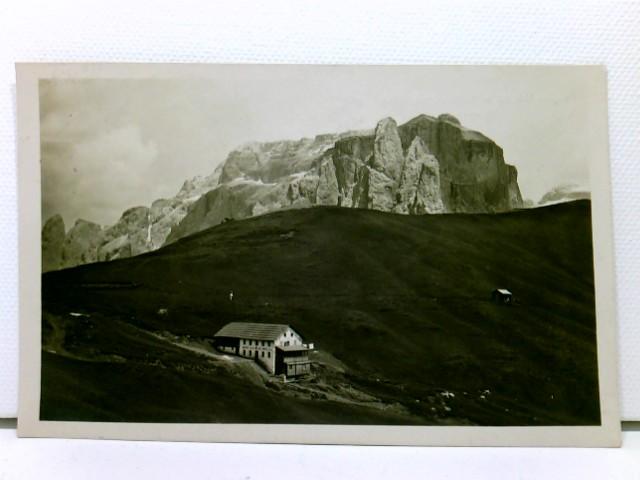 AK Ospizio Valentini (m. 2150) sul Passo di Sella, Dolomiti; mit Hüttenstempel; 1926