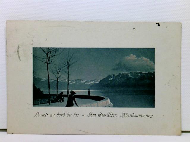 AK Le soir au bord du lac - Am See-Ufer, Abendstimmung; coloriert, 1910
