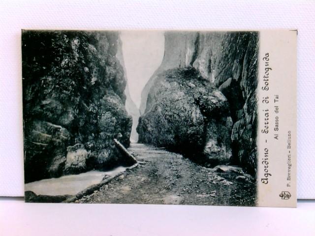 seltene AK Agordino - Serrai di Sottoguda, Al Sasso del Tai; ca. 1910; Belluno