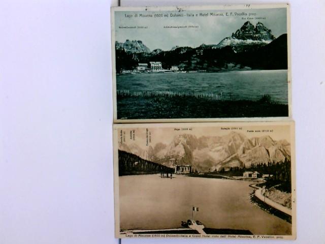2 AK Lago di Misurina, Hotel Misurina; versch. Ansichten; 1911; Konvolut