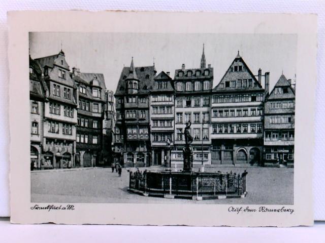 AK Frankfurt a. M., Auf dem Römerberg; ca. 1910