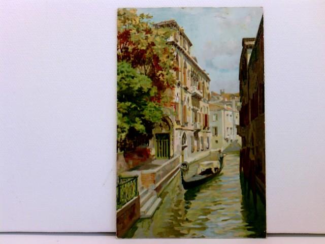 Künstler-AK Venezia - Palazzo Van Axel; Venise Terminus Hotel Pres de la Gare; coloriert, 1913