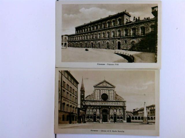 2 AK Firenze; Palazzo Pitti, Chiesa di S. Maria Novella; ca. 1910; Konvolut