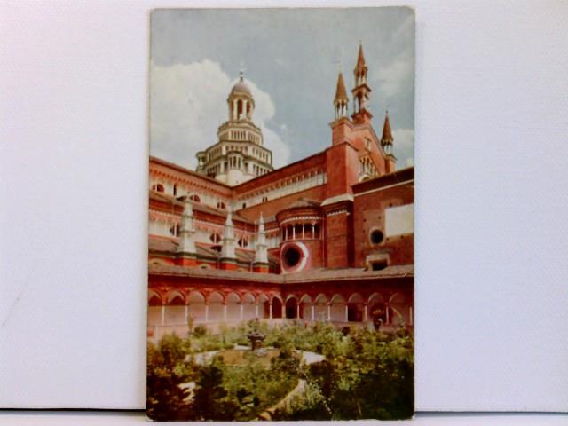 AK Certosa di Pavia - La Chiesa veduta dal Chiostro piccolo; coloriert, ca. 1910