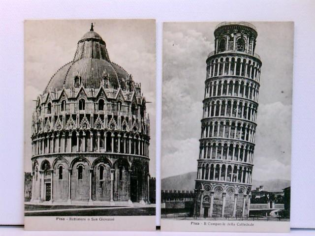 3 AK Pisa; Battistero o San Giovanni, Il Campanile della Cattedrale, Piazza del Duomo coi orincipali Monumenti; Konvolut