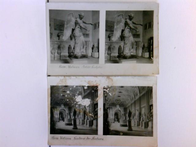 2 Stereo-AK Rom; Antike Sculptur, Galerie der Statuen; Konvolut