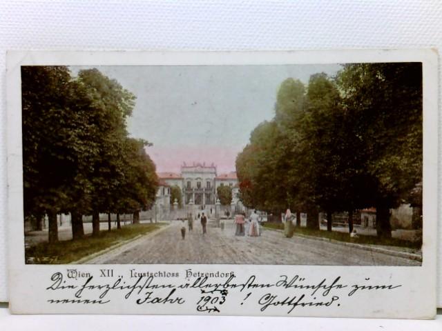 seltene AK Wien XII., Lustschloss Hetzendorf; coloriert, 1902