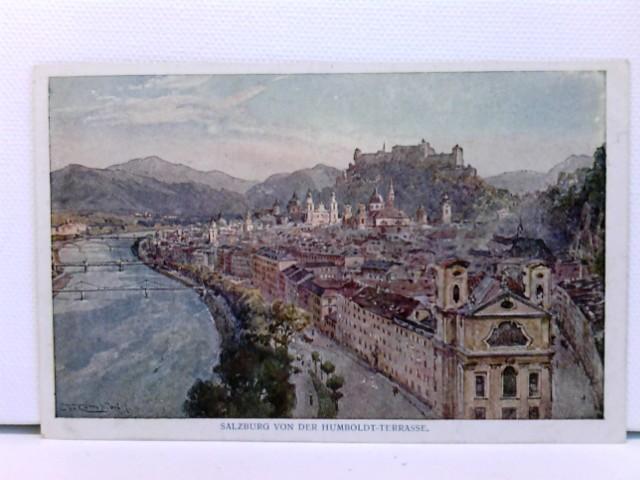 Künstler-AK Salzburg von der Humboldt-Terrasse
