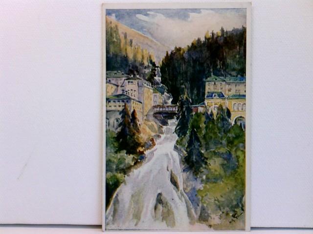 Künstler-AK Bad Gastein, Wasserfall; coloriert, ca. 1910