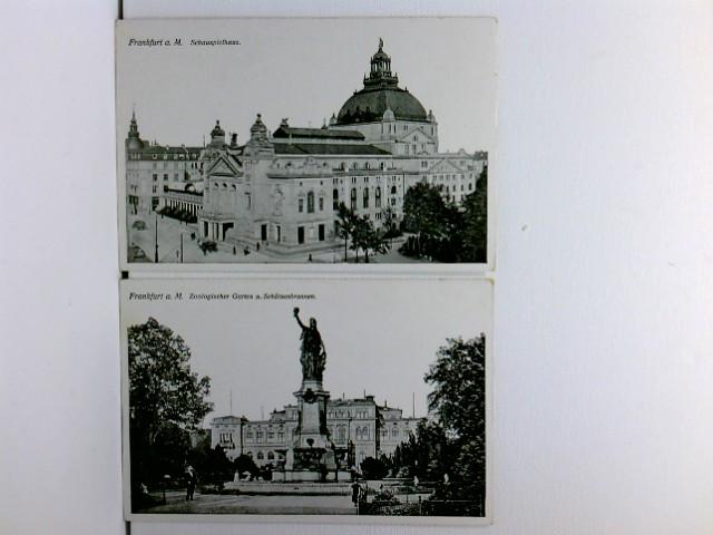 2 AK Frankfurt a. M.; Schauspielhaus, Zoologischer Garten u. Schützenbrunnen; ca. 1915; Konvolut