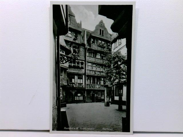 AK Frankfurt a. M., Goldhutgasse, Pesthaus; ca. 1910