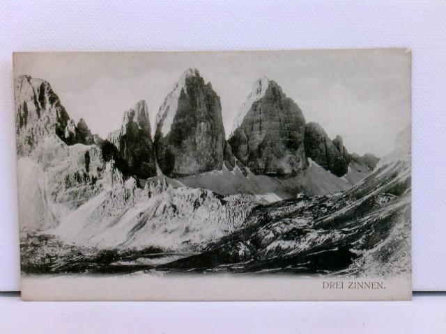 AK Drei Zinnen; um 1900